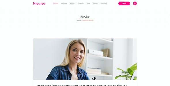 Nicalso   Personal Portfolio PSD Template
