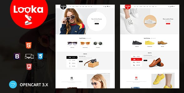 Looka - Glasses & Shoes Opencart Theme nulled theme download