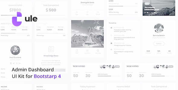 Ule – Dashboard Template for Bootstrap - Admin Templates Site Templates