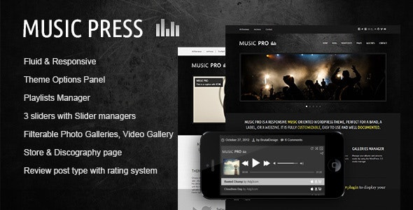 MusicPress - A Timeless Audio Theme - Music and Bands Entertainment