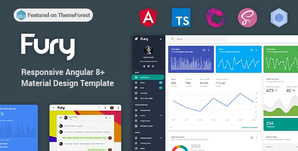 Fury - Angular 8+ Material Design Admin Template by visurel