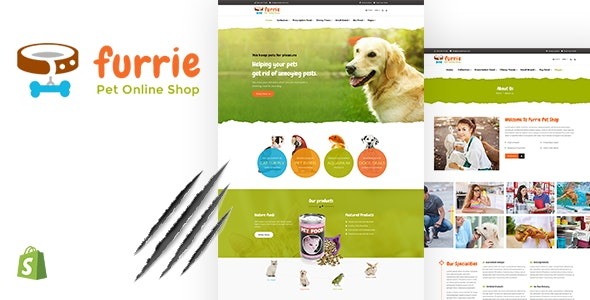 Furrie | Pet Shop, Sectioned Shopify Theme - Shopify eCommerce