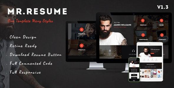 Morgan - Resume, vCard, Personal, Profile and Portfolio WP Theme - Personal Blog / Magazine