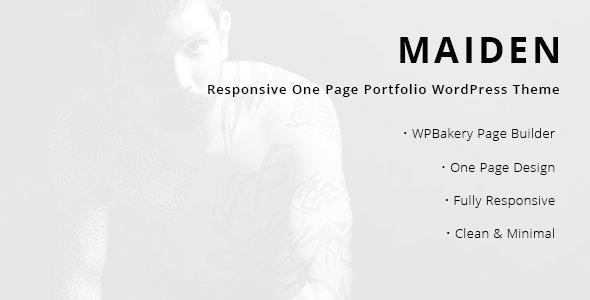Maiden - Responsive One Page Portfolio WordPress Theme - Portfolio Creative