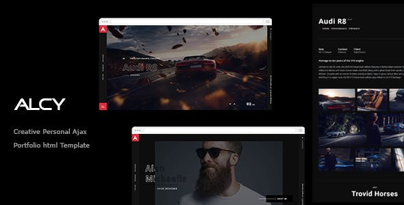 ِِAlcy -Creative Personal Ajax  Portfolio html Template nulled theme download
