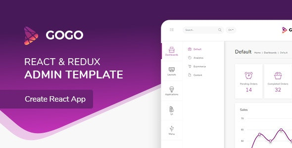 Gogo - React Admin Template by ColoredStrategies | ThemeForest