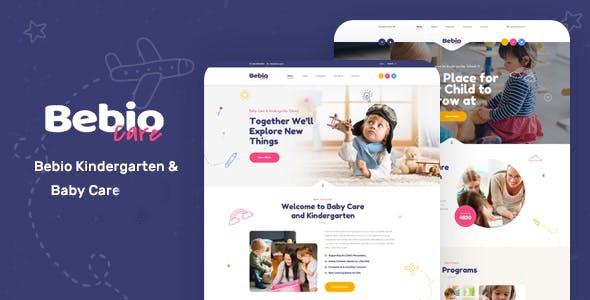 Bebio - Kindergarten & Baby Care WordPress Theme - Children Retail
