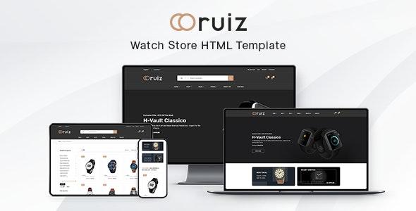 Ruiz - Watch Store HTML Template - Fashion Retail