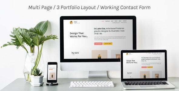 Astar - Responsive Personal Portfolio Template - Portfolio Creative