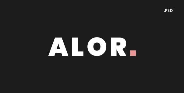 Alor - Creative Fullscreen Onepage Portfolio PSD Template - Portfolio Creative