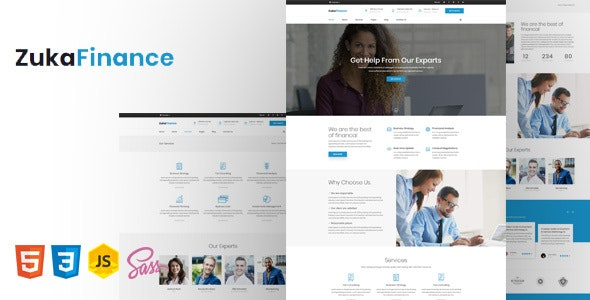 Zuka - Finance HTML5 Template - Business Corporate