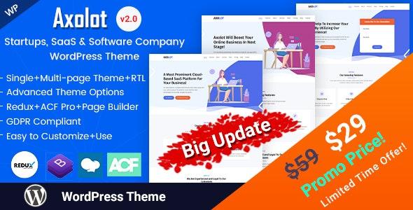 Axolot - Technology Services and IT Company WordPress Theme - Software Technology