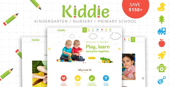 Kiddie - Kindergarten WordPress Theme - Education WordPress