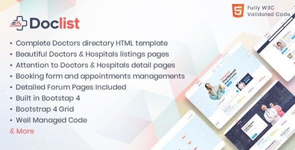 Doclist - Medical and Doctor Directory HTML Template - Corporate Site Templates