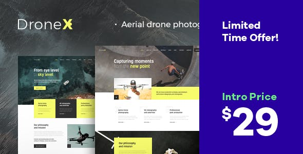 DroneX | Aerial Photography & Videography WordPress Theme nulled theme download