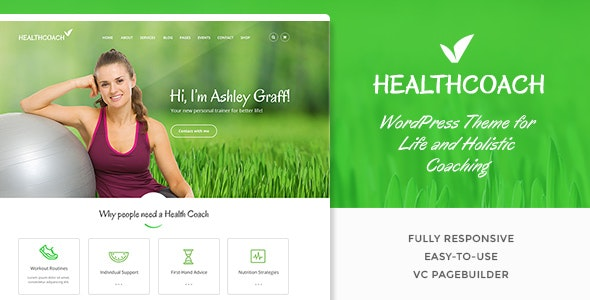 Health Coach - Personal Trainer WordPress theme - Health & Beauty Retail