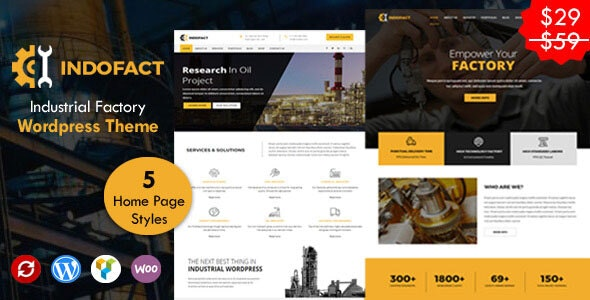 Indofact - Industry and factory WordPress Theme - Business Corporate