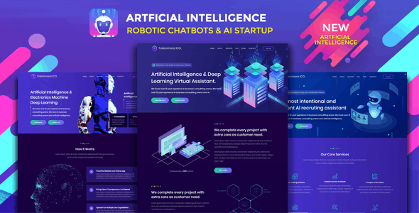 Robotizer - Chatbot & AI Startup Agency Template - Technology Site Templates