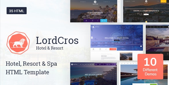 LordCros - Hotel, Resort & Spa HTML Template - Travel Retail