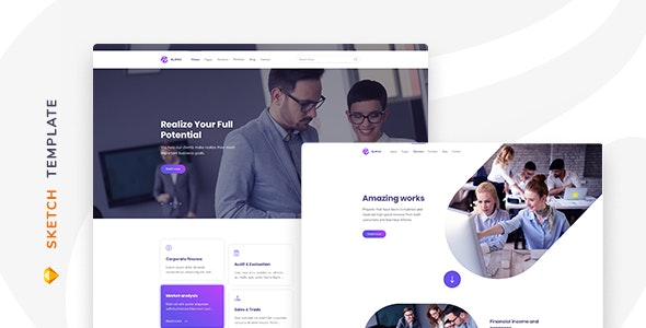 Elipso – Agency Sketch Template - Sketch Templates