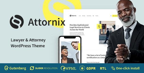 Attornix - Lawyer WordPress Theme - Business Corporate
