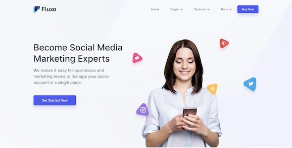 Fluxo - Social Media Marketing Template