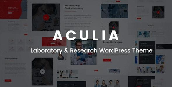 Aculia   Laboratory & Research WordPress Theme - Business Corporate