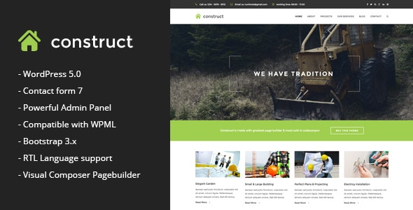Construct - Construction & Business WordPress Theme - Business Corporate