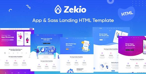 Zekio - Sass and App Landing HTML5 Template - Technology Site Templates