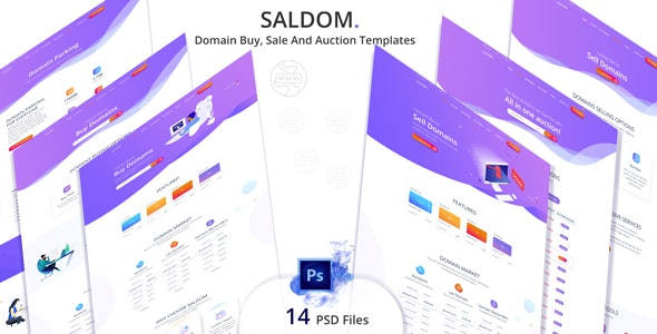 Saldom - Domain Sale And Auction Templates - Hosting Technology