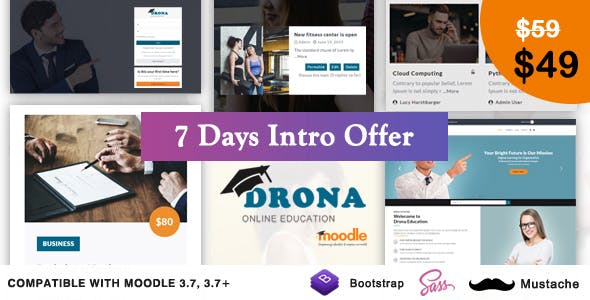 Drona - Multipurpose Moodle Theme nulled theme download