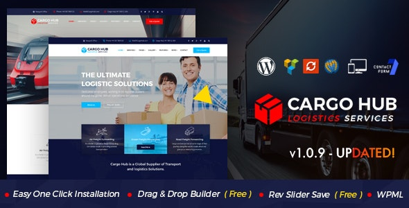 Cargo HUB - Transportation and Logistics WordPress Theme by