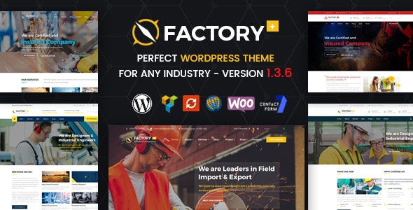 Factory Plus - Industry and Construction WordPress Theme by