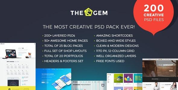 TheGem - Creative Multi-Purpose PSD Template - Creative PSD Templates