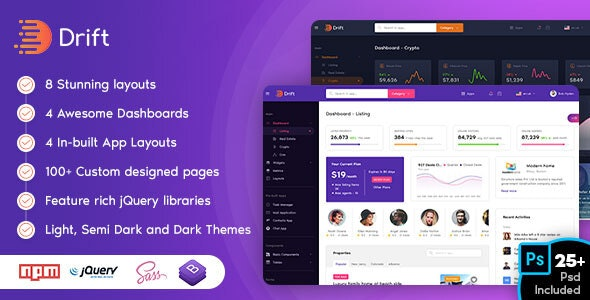 Drift - Admin Dashboard Template by g-axon