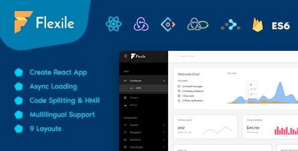 Flexile - React Redux Admin Template based on Ant Framework