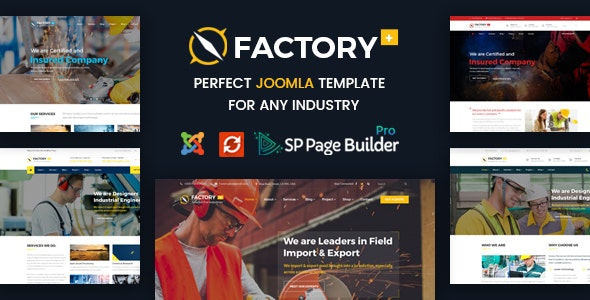 Factory Plus - Construction Business Joomla Template - Business Corporate