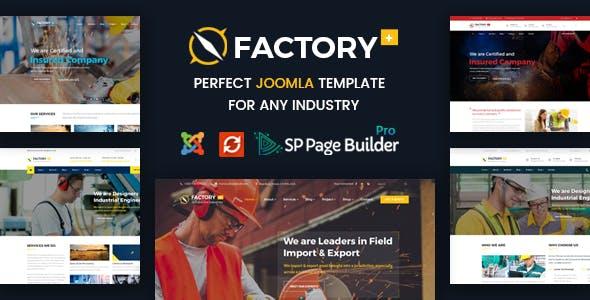 Factory Plus - Construction Business Joomla Template