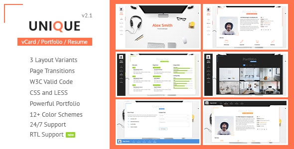 Unique Cv Resume Template By Lmpixels Themeforest
