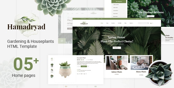 Hamadryad - Gardening & Houseplants HTML Template - Site Templates