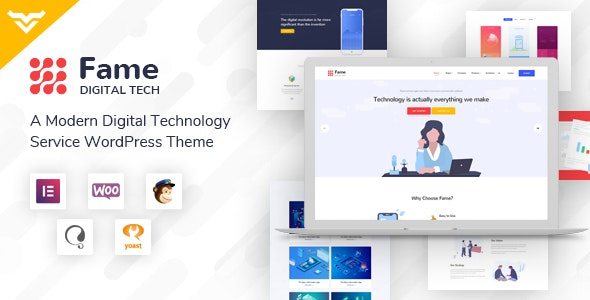 Fame - Digital Technology/Service WordPress Theme - Technology WordPress