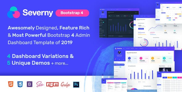Severny - Bootstrap 4 Admin Template - Admin Templates Site Templates