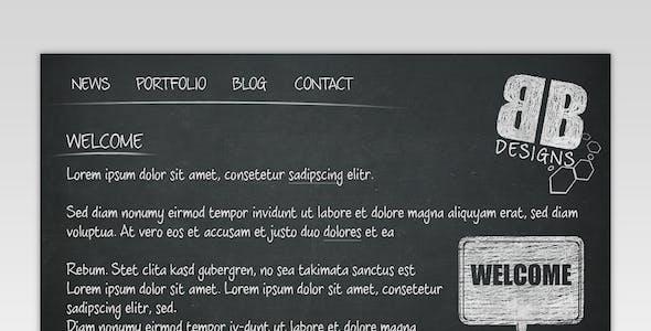 Black Board Portfolio Template