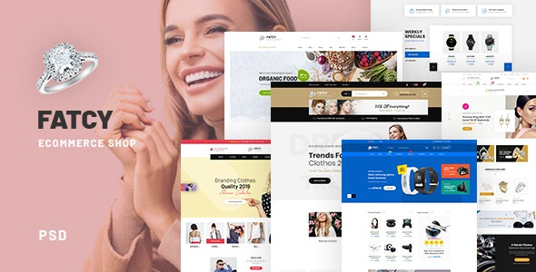 Fatcy Shopping - eCommerce PSD Template - Retail PSD Templates