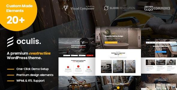 Oculis - Construction & Building WordPress Theme - Business Corporate