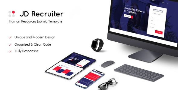 JD Recruiter - HR Consulting & Staffing Agency Joomla Template - Joomla CMS Themes