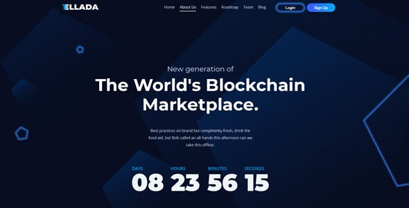 CryptoOne — Cryptocurrency ICO Landing Page HTML Template