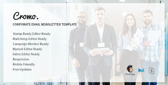 Cromo Corporate Email Newsletter Template - Newsletters Email Templates