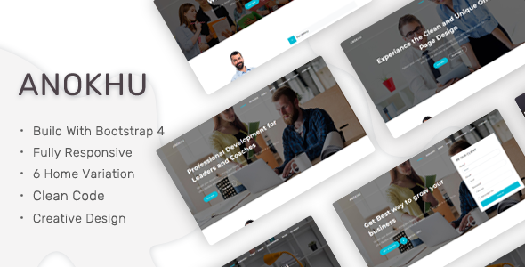 Anokhu - A Responsive Landing Template - Landing Pages Marketing