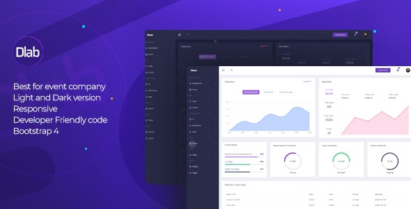 Dlab - Event Admin Dashboard - Admin Templates Site Templates